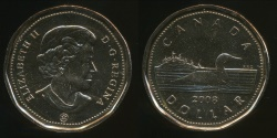 World Coins - Canada, Confederation, 2008 One Dollar, $1, Elizabeth II - Proof Like