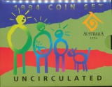 World Coins - Australia, 1994 6 Coin Mint Set (International Year of the Family) - Uncirculated