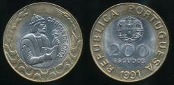 World Coins - Portugal, Republic, 1991 200 Escudos - Uncirculated