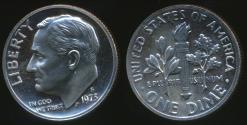 World Coins - United States, 1973-S Dime, Roosevelt - Proof
