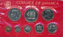 World Coins - Jamaica, Commonwealth, Elizabeth II , 1975 8 Coin Specimen Set