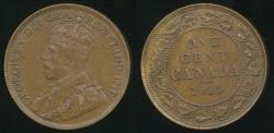 World Coins - Canada, Confederation, 1915 Cent, George V - Extra Fine