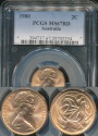 World Coins - Australia, 1980 2 Cents, Elizabeth II - PCGS MS67RD