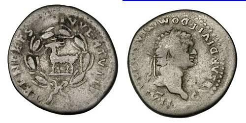 Ancient Coins - DOMITIAN as Caesar, AR denarius, AD 81-96, Rome mint (20mm, 3.24 g) - RSC 390