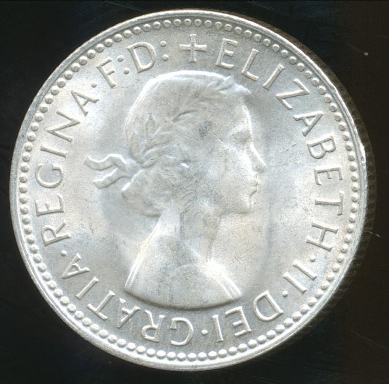 Australia 1962 One Shilling Elizabeth Ii Silver