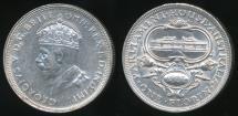World Coins - Australia, 1927 Florin, 2/-, George V (Canberra) (Silver) - Extra Fine