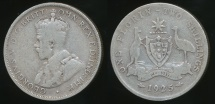 World Coins - Australia, 1925 Florin, 2/-, George V (Silver) - Very Good