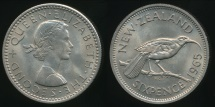 World Coins - New Zealand, 1965 Sixpence, 6d, Elizabeth II - Uncirculated