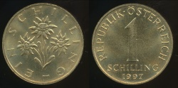 World Coins - Austria, Republic, 1997 1 Schilling - Uncirculated