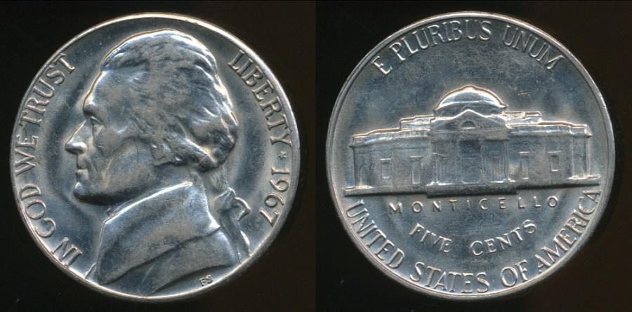 Jefferson 5 cent 1961 P Uncirculated