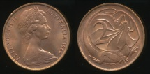 World Coins - Australia, 1966(p) Two Cents, 2c, Elizabeth II - Uncirculated