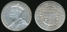 World Coins - New Zealand, 1934 1/2 Crown, George V (Silver) - Uncirculated