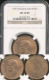 World Coins - New Zealand, 1940 One Penny, George VI - NGC MS62RB