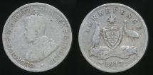 World Coins - Australia, 1917(m) Threepence, 3d, George V (Silver) - Average