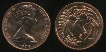 World Coins - New Zealand, 1979 Two Cents, 2c, Elizabeth II - Uncirculated