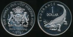 World Coins - Guyana, 1976FM One Dollar, $1 (10th Anniversary of Independence) - Proof