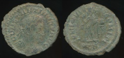 Ancient Coins - CONSTANTINE I, AE-Follis, AD 306-337 (22mm, 2.63 gm) London mint, Struck AD 313-314, RIC VII 15