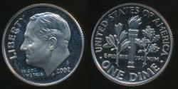 World Coins - United States, 2002-S Dime, Roosevelt - Proof