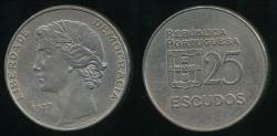 World Coins - Portugal, Republic, 1977 25 Escudos - Extra Fine