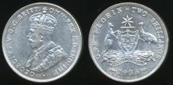 World Coins - Australia, 1936 Florin, 2/-, George V (Silver) - Extra Fine