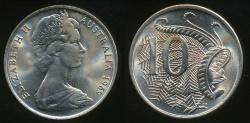 World Coins - Australia, 1969 Ten Cents, 10c, Elizabeth II - Uncirculated