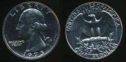 World Coins - United States, 1973-S Quarter, 1/4 Dollar, Washington - Proof
