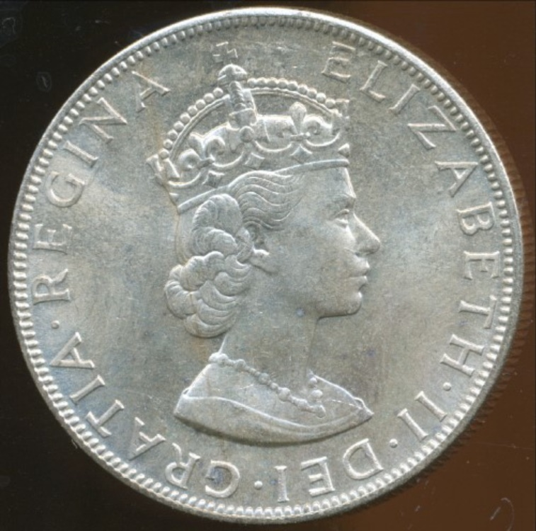 Bermuda British Colony 1964 One Crown Elizabeth Ii