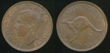 World Coins - Australia, 1951(pl) One Penny, George VI - almost Uncirculated