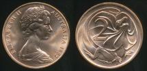 World Coins - Australia, 1982 2 Cents, Elizabeth II - Choice Uncirculated
