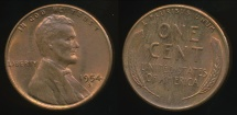 World Coins - United States, 1954-S One Cent, Lincoln Wheat - almost Uncirculated