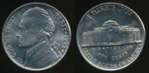 World Coins - United States, 1992-D 5 Cents, Jefferson Nickel - Uncirculated
