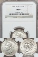 World Coins - Australia, 1944(m) Shilling, George VI (Silver) - NGC MS64