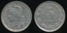 World Coins - Argentina, Republic, 1930, 5 Centavos - Extra Fine