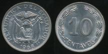 World Coins - Ecuador, Republic, 1968 10 Centavos - Uncirculated