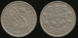 World Coins - Portugal, Republic, 1966 5 Escudos - Extra Fine
