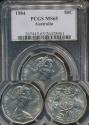 World Coins - Australia, 1984 Fifty Cents, 50c, Elizabeth II - PCGS MS65