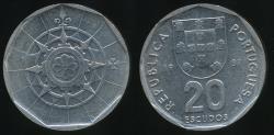 World Coins - Portugal, Republic, 1987 20 Escudos - Uncirculated