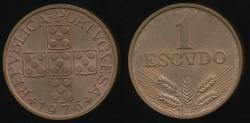 World Coins - Portugal, Republic, 1976 1 Escudo - Uncirculated
