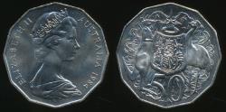 World Coins - Australia, 1984 Fifty Cents, 50c, Elizabeth II - Uncirculated