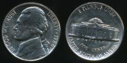 World Coins - United States, 1986-D 5 Cents, Jefferson Nickel - Uncirculated
