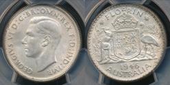 World Coins - Australia, 1946 Florin, 2/-, George VI (Silver) - PCGS MS63 (Ch-Unc)