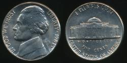 World Coins - United States, 1981-D 5 Cents, Jefferson Nickel - Uncirculated