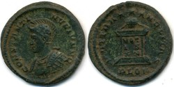 Ancient Coins - CONSTANTINE II, AE follis, AD 317-340, London mint, (20mm, 2.86 g), Struck AD 323-324 - RIC VII 287