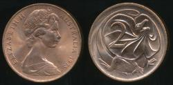 World Coins - Australia, 1975 Two Cents, 2c, Elizabeth II - Uncirculated