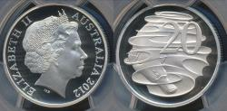 World Coins - Australia, 2012 Twenty Cents, 20c, Elizabeth II - PCGS PR69DCAM (Proof)