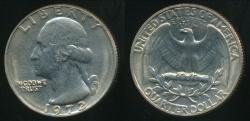 World Coins - United States, 1972 Quarter, 1/4 Dollar, Washington - Uncirculated