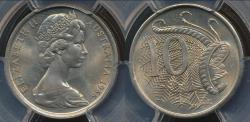 World Coins - Australia, 1966(L) Ten Cents, 10c, Elizabeth II - PCGS MS65 (Gem Unc)