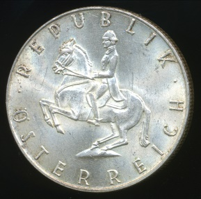 World Coins - Austria, Republic, 1963 5 Schilling (Silver) - Uncirculated