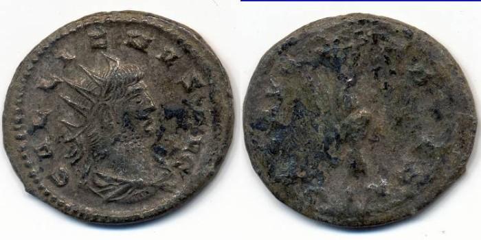 Ancient Coins - GALLIENUS, AE-Antoninianus, AD 253-268, Rome mint, (22mm, 3.86 g) - RIC 157