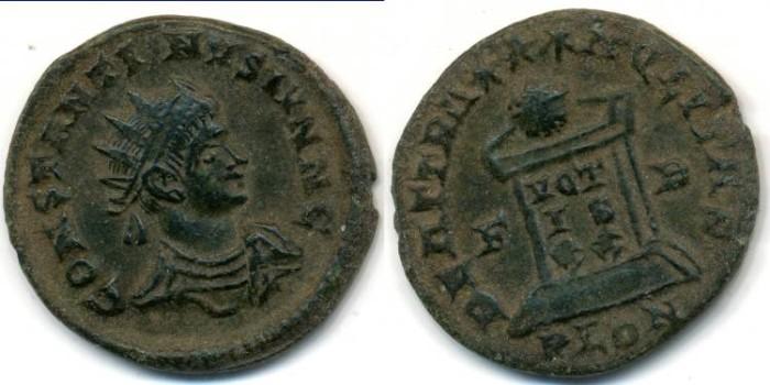 Ancient Coins - CONSTANTINE II, AE follis, AD 317-340, London mint, (19mm, 2.43 g), Struck AD 321-323 - RIC VII 254